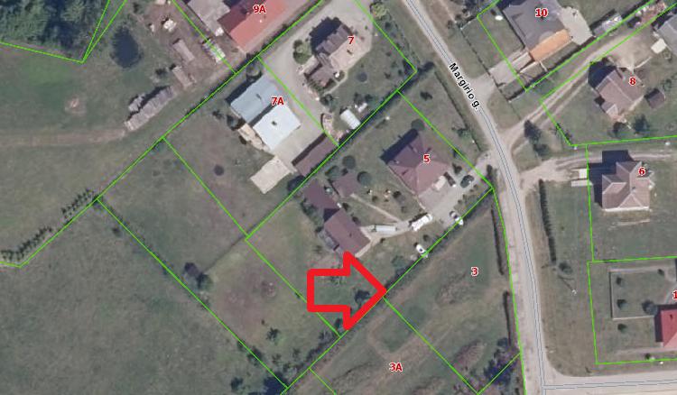 Alytaus raj., Miklusėnų km., Margirio g. – sklypas (12 a.)